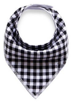 Bandana Bib - Black And White Checks