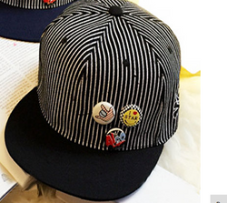 Black And White Striped Cap - Three Bears Kids