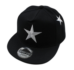 Black Large Star Cap - Three Bears Kids