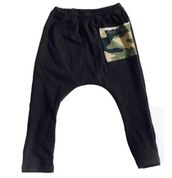 Black Leggings With Camo Pocket - Three Bears Kids