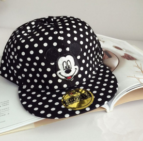 Mickey Black And White Spotted Cap - Three Bears Kids
