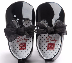 Bow Baby Black Patent - Three Bears Kids
