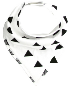 Bandana Bib - Black Triangles