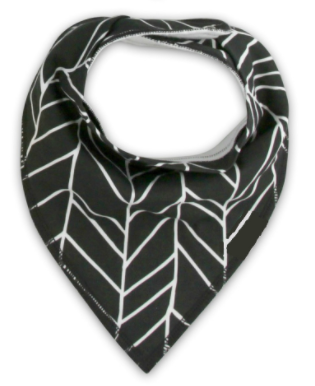 Bandana Bib - Black And White Print - Three Bears Kids
