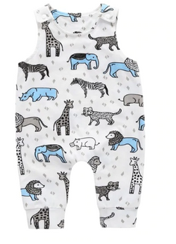 Zoo Romper - Blue