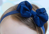 Chiffon Bow Headband - Grey - Three Bears Kids