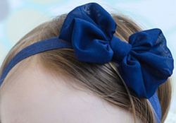 Chiffon Bow Headband - Blue - Three Bears Kids