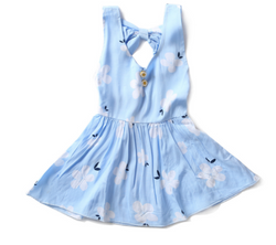 Blue Flower Dress - Three Bears Kids