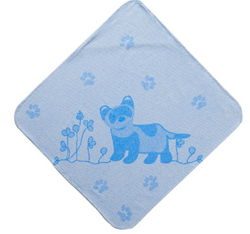 Breganwood Organic Hooded Towel - Cool Blue