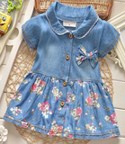 Blue Jean Baby Short Dress - Three Bears Kids