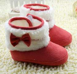 Bow Slippers Red