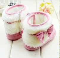 Bow Slippers Pink - Three Bears Kids