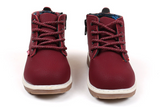 Leather Ankle Boots- BURGANDY