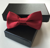 Bow Tie - Burgandy Satin - Three Bears Kids