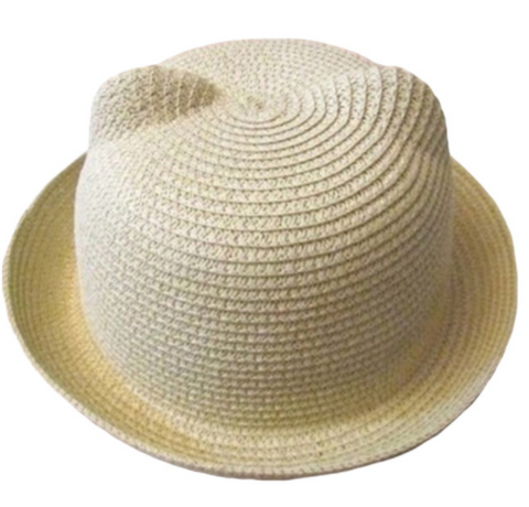 Cat Ears Sun Hat - Cream - Three Bears Kids