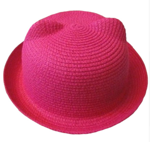 Cat Ears Sun Hat - Pink - Three Bears Kids