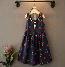 Cherry Me Navy Dress - Three Bears Kids