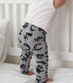 Chomp Grey Harem Pants - Three Bears Kids