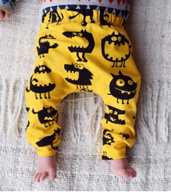 Chomp Yellow Harem Pants - Three Bears Kids