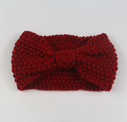 Crochet Headband - Deep Red - Three Bears Kids