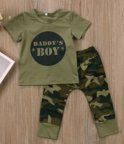 Daddy's Boy 2 Piece Camo Set - Three Bears Kids