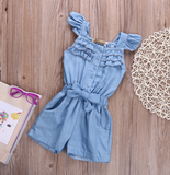 Denim Jumpsuit - Light Blue - Three Bears Kids