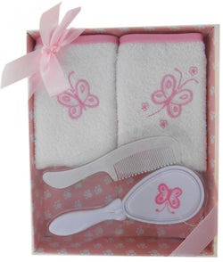 Elka 4 Piece Brush Gift Set - Pink - Three Bears Kids