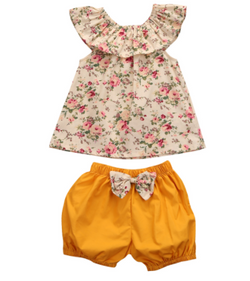 Floral Bow 2 PC Set - Three Bears Kids