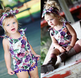 Floral Romper And Headband - Three Bears Kids