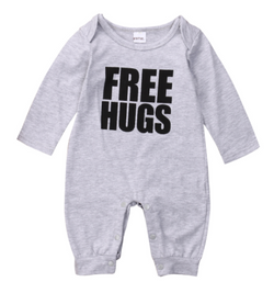 Free Hugs Romper - Three Bears Kids