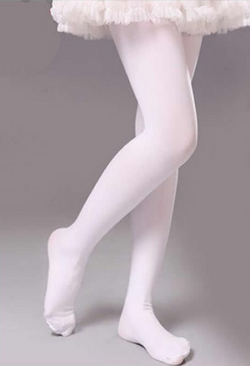 Tights - White Velvet