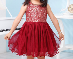 Glitter Girl Party Dress - Plum - Three Bears Kids