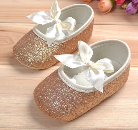 Baby Glitter Shoes - Gold - Three Bears Kids