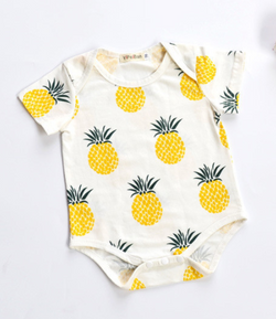 Golden Pineapples Romper - Three Bears Kids
