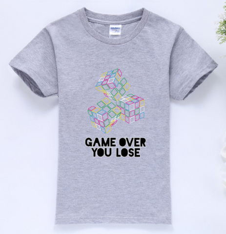Game Over T-Shirt GREY  -  4 Years Plus - Three Bears Kids