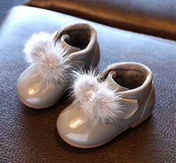 Patent Baby Booties - Grey