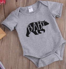 Grey Baby Romper - Three Bears Kids