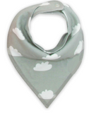 Bandana Bib - White Clouds - Three Bears Kids