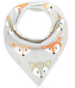 Bandana Bib - Grey Fox - Three Bears Kids