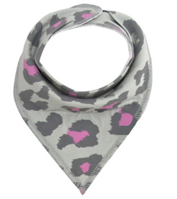 Bandana Bib - Grey Leopard - Three Bears Kids