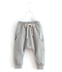 Grey Harem Pants - Three Bears Kids