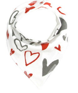 Bandana Bib - Hearts - Three Bears Kids