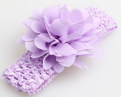 Chiffon Flower Headband - Mauve - Three Bears Kids