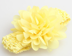 Chiffon Flower Headband - Yellow - Three Bears Kids