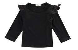 Lace Wings Top - Black