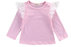 Lace Wings Top - Pink