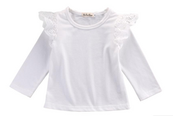 Lace Wings Top - White