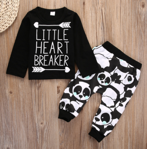 Little Heart Breaker 2 Piece Set - Long Sleeve - Three Bears Kids