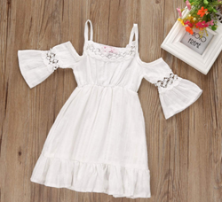 Mary Off Shoulder Dress - Three Bears Kids