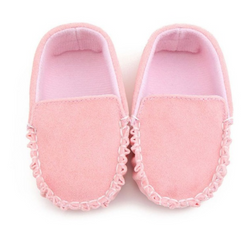 Mini Mocs - Pink Suede - Three Bears Kids